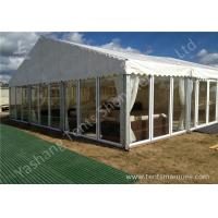 Buy cheap Tailor Made Transparent Glass Wall Outdoor Luxury Wedding Tents With Gorgeous Ornaments from wholesalers