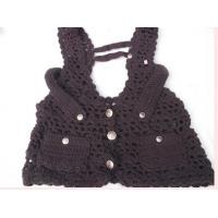 Buy cheap Wool Sleeveless Sweater Crochet Vest For Women With Metal Button from wholesalers