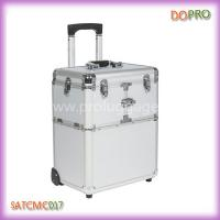 Buy cheap Professional Makeup Travel Case Silver Makeup Suitcase on Wheels (SATCMC017) from wholesalers