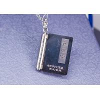 Retro Stainless Steel Tibetan Buddhist Necklace , Heart Sutra Buddhist Symbol Pendant