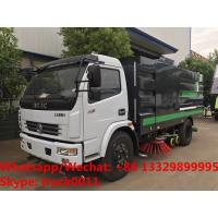 Buy cheap 2019s HOT SALE! new best price Dongfeng 120hp diesel road washing sweeper truck street washing and sweeping vehicle from wholesalers