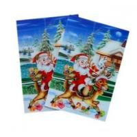 Buy cheap Merry Christmas plastic 3d lenticular lens printing sticker flip animation Wall Sticker from wholesalers