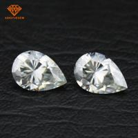 Buy cheap Pear shape synthetic diamond VVS clarity GH clear white color moissanite diamond from wholesalers