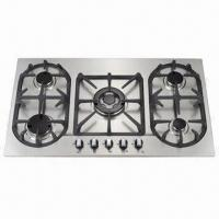 Buy cheap Gas Stove with Stainless Steel Cook-panel and Automatic Electronic Ignition from wholesalers