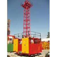 Buy cheap 1 - 2 Ton Twin / Single Cage Industry Building Material Hoist by Manual Control SS100/100 from wholesalers