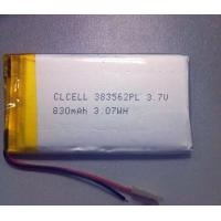 Buy cheap CLCELL Lithium Polymer battery 3.7v 383562 830mAh Rechargeable battery with PCM from wholesalers