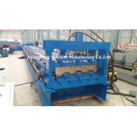 Buy cheap Galvanized Sheet Floor Deck Roll Forming Machine For Building Steel 11 kw + 11 kw from wholesalers