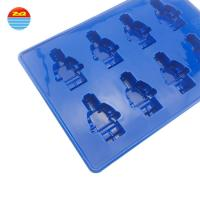 China Wholesale best selling chocolate Lego brick and robot custom silicone ice cube tray ice cream mold for sculpture on sale