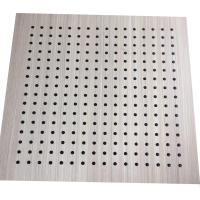 Buy cheap Interior Decoration MDF Board Wood Perforated Studio Room Acoustic Insulation Panel from wholesalers
