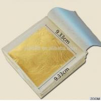 Buy cheap 9.33*9.33 CM 24 K Pure Gold Color Edible Gold Leaf for Attractive  Bakery Decoration from wholesalers