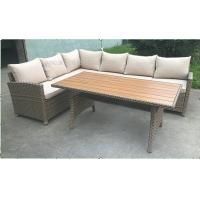 comfortable outdoor patio sofa set l shaped outdoor couch with table 107035921. Black Bedroom Furniture Sets. Home Design Ideas