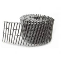 Buy cheap Hot Dip Galvanized Pallet Coil Nails With Flat Head / Checked Head product