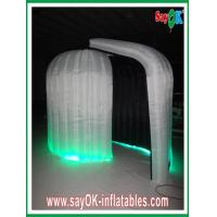 Buy cheap Durable Rounded Inflatable Blow Up Photobooth 3 x 2.3 x 2m With Black Inside from wholesalers