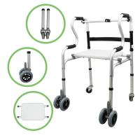 Buy cheap Factory Supply Aluminum Foldable Walking Frame Walker Walking Aids for Adults from wholesalers