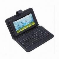 Buy cheap 7-inch Leather Case Keyboard with Stylus and USB Wire, Ideal for Android Tablet PC from wholesalers