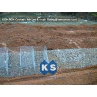 Buy cheap Stainless Steel Galvanized Hexagonal Wire Mesh Gabion Boxes , 0.5mm Thick PVC Coated from wholesalers