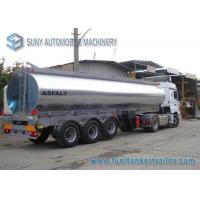 Buy cheap 35000 Liters Tri-axle Heating Bitumen Storage Tanks , Aluminum Cover Bitumen Tanker from wholesalers