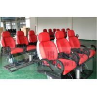 Buy cheap 6DOF Red Motion Theater Chair Hydraulic / Vibration with Special Effect product