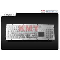 Buy cheap Vandalproof IP65 Stainless Steel Kiosk Metal Keyboard With Trackpad Pointing Device from wholesalers