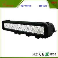 Buy cheap 17 Inch LED Light Bar, 100W off Road 4X4 Single Row LED Offroad Light Bar from wholesalers