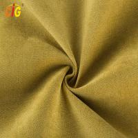 Buy cheap Yellow Soft Polyester Velvet Fabric For Sofa / Furniture All Colors Are Available product