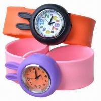 Buy cheap Silicone Slap Watch w/ Rabbit Design, Customized Logos/Designs are Welcome, Good for Children Gifts product