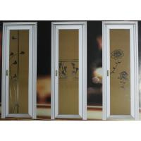Buy cheap 1.0mm - 1.2mm profile thickness wood grain aluminum hinged doors with single, double doors from wholesalers