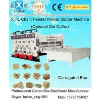 Buy cheap Pneumatic Locking Automatic Lubrication Carton Printing Slotting Machine With Gear Pumps from wholesalers
