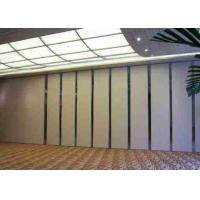 Buy cheap 9M High Sliding Panel Room Divider Top Hung Wooden Veneer Finished For Hotel And Exhibition from wholesalers