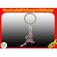 Buy cheap 2011 promotion custom metal keychain with crystal stone from wholesalers