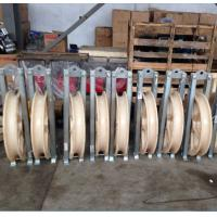 Buy cheap Fiber Optic Cable Line Basic Construction Tools Large diameter φ660x100mm Stringing Pulley Blocks from wholesalers