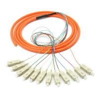 Buy cheap Orange 12 core SC UPC optical fiber patch cord with CE , multimode fiber patch cord from wholesalers