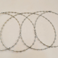 Buy cheap Hot dipped galvanized razor blade barbed wire BTO-22 razor barbed wire factory price from wholesalers