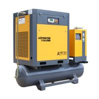 Buy cheap AHB-10A VSD 7.5KW 300L tank mounted screw air compressor with Refrigerated air dryer R410A from wholesalers