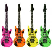 Buy cheap EN71 Certificated Blow Up Guitars , Inflatable Carnival Toys For Music Theme Party from wholesalers