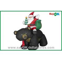 Buy cheap Christmas Santa Snowman Inflatable Christmas Decoration With Gift And Black Bear from wholesalers