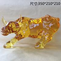 Buy cheap Yellow Crystal Bull Figurine / Lion Tiger Head Baccarat Crystal Figurines from wholesalers