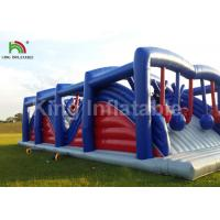 Buy cheap Custom Inflatable Sports Games 5k Obstacle Course Wreoking Balls 1 Years Warranty from wholesalers