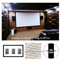 Buy cheap custom size sound transparent projector screen 4K fixed frame wall mount with speakers behind from wholesalers