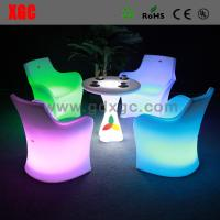 Buy cheap Led Bar Chair Led Furniture Led PE Table And Chairs from wholesalers