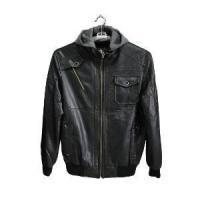 Buy cheap Men Hooded PU Leather Jackets, Men Korean Fashion Leather Jacket from wholesalers