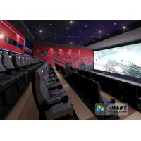 Buy cheap 4D Red / Black Movie Theater With Motion 3 DOF Chair And Special Effect In Hall product
