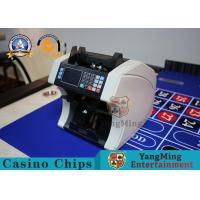 China Custom Bill Counting Machine Casino Game Accessories / Portable Cash Counter Front Loading on sale