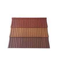 Buy cheap 0.4mm Construction Building Roofing Material Wood Type Stone Coated Metal Roof Tiles from wholesalers
