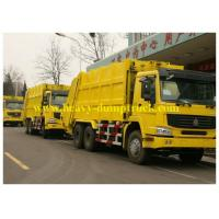 Buy cheap Yellow Sanitation Garbage Truck  14 to 16 cbm 6X4 , Waste Collection Truck from wholesalers