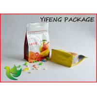 Buy cheap Side Gusseted Flat Bottom Bag With Pocket Zipper For Food Packaging product