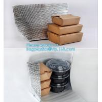 Buy cheap Reusable Aluminium Foil Lunch Food Delivery Non Woven Insulated Thermal Cooler Bag,hot food delivery Use Aluminum Foil i from wholesalers
