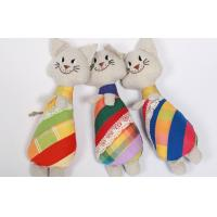 "Buy cheap Soft Sculpture Handmade Linen Toys Soft Art Primitive 10"" Cat Embroidered Doll product"