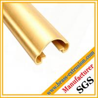 Buy cheap OEM chinese manufacturer stairs handrail brass extrusion profiles from wholesalers