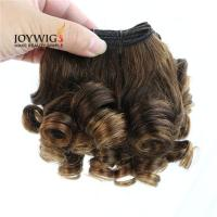 Buy cheap 2017 new products from Qingdao 10A Grade Unprocessed Brazilian Virgin Human Hair brown Color Nigerian curly Hair Weft from wholesalers